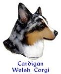 Cardigan Welsh Corgi items with merle design