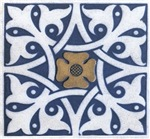 Tile blue and white