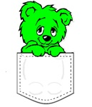 Pocket Teady Bear Shamrock