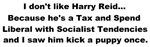 Harry Reid kicks puppy