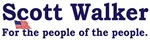 Scott Walker for the people of the people