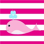 Pink Whale Pink Stripes