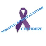 Pediatric Stroke Survivor Ribbon - Customizable