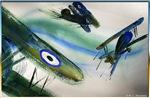 War planes, retro art