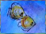 Colorful tropical fish art