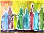 Bottles, bright, art,