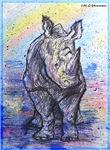 rhino, wildlife, art,