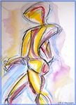 Abstract, nude, colorful art,