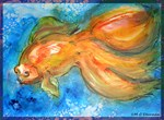 Gold fish! colorful art!