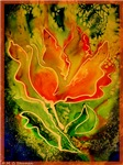Abstract tulip! colorful art!