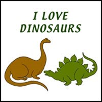 DINOSAUR IMAGES ON KIDS T-SHIRTS