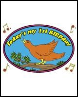 1st BIRTHDAY T-SHIRTS BIRD