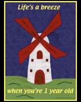 1st BIRTHDAY T-SHIRTS WINDMILL