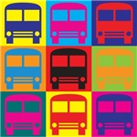 Driving a Bus Pop Art