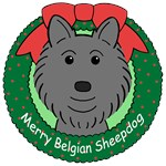 Belgian Sheepdog Christmas Ornaments