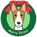 Ibizan Hound Christmas Ornaments