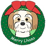 Lhasa Apso Christmas Ornaments