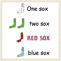 One Sox Two Sox Red Sox Blue Sox