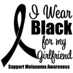 I Wear Black Ribbon (Girlfriend) Melanoma T-Shirts