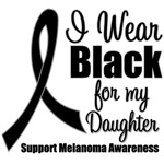 I Wear Black Ribbon (Daughter) Melanoma T-Shirts