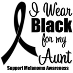 I Wear Black Ribbon (Aunt) Melanoma T-Shirts