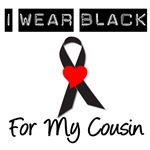I Wear Black Ribbon For My Cousin T-Shirts