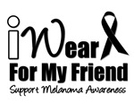 I Wear Black Ribbon For My Friend T-Shirts & Gifts