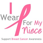 I Wear Pink For My Niece Shirts, Tees & Gifts