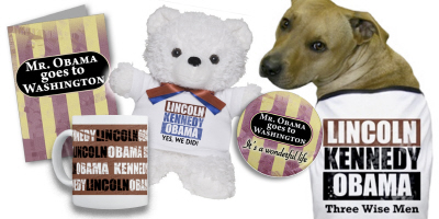Obama Holiday-ware, gifts and doggie tees