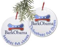 Dog Breeds fur Obama ornaments
