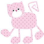 Cute Pink Kitty Cat With Spots
