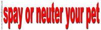 Spay or Neuter Your Pet slogan