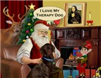 SANTA AT HOME<br>LABRADOR THERAPY DOG (C)