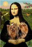 MONA LISA<br>With 2 Yorkshire Terriers