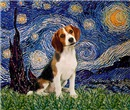 STARRY NIGHT<br>With a Beagle Puppy