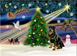 CHRISTMAS MAGIC<br>With Rottweiler (#3)