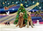 CHRISTMAS MAGIC<br>With 2 Airedales