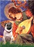 ANGEL WITH MANDOLIN<br>& Fawn Pug #1
