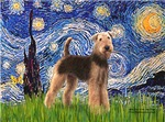 STARRY NIGHT<br>With Airedale #6