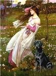WINDFLOWERS<br>& Black Labrador Retriever