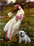 WINDFLOWERS<br>& White English Bulldog
