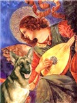 ANGEL WITH MANDOLIN<br>& German Shepherd
