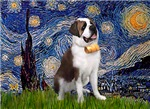 STARRY NIGHT<br>& Saint Bernard