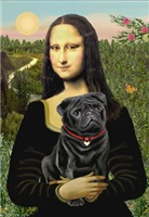 MONA LISA<br>& Black Pug