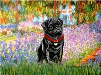 GARDEN AT GIVERNEY<br>& Black Pug