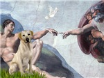 CREATION OF MAN<br>& Yellow Labrador Retriever