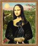MONA LISA<br>& Miniature Pinscher