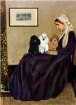 WHISTLER'S MOTHER<br> & 3 Poodles