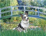LILY POND BRIDGE<br>& Blue Merle Welsh Corgi