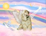 ANGEL IN THE CLOUDS<br>& Buff Cocker Spaniel